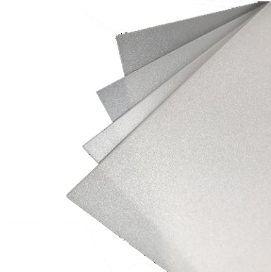 PS diffuser sheet with high gloss surface